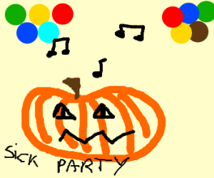 Pumpkin at a rave?