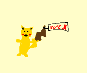 Black friday sale on Pikachu
