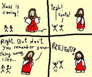 santa vs jesus - Santa Claus And Jesus 2