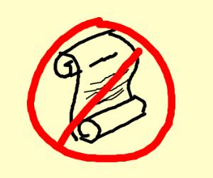 no scrolls allowed