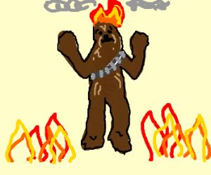 Chewbacca on fire