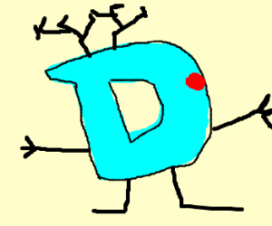 Drewdolph the red-nosed blue D