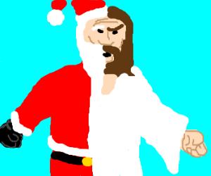 santa jesus abomination - Santa Claus And Jesus 2