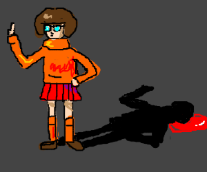 Uh... Velma? Your shadow is bleeding!