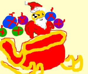 Crash Test Dummy is Santa.