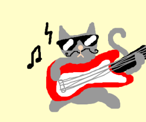 Rockin' moustache cat