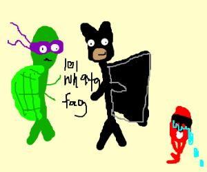 Donatello & Batman talk bad about power ranger
