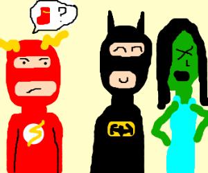 "superhero sleepover - ""where are my socks?"""