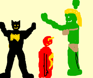 Batman gets funky with She-Hulk, Flash annoyed