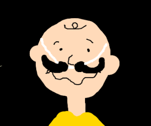 Charlie Brown disregards fake mustache