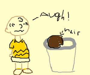 Charlie Brown finds toupee in trash!!!