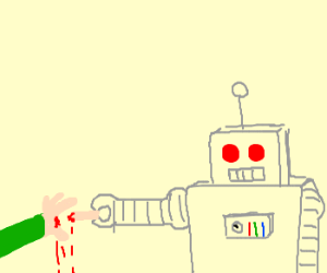 Robot's pull-my-finger programming too strong