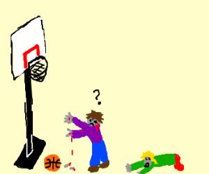 zombies have no basket ball skills