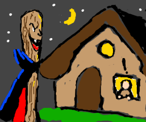 Vampire bat terrifies man living in a cottage.