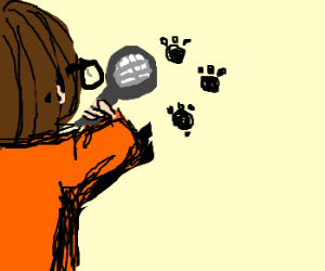 Velma finds a handprint (Clue) Scooby Doo