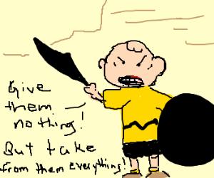 "Peanuts gang star in parody of ""300."""