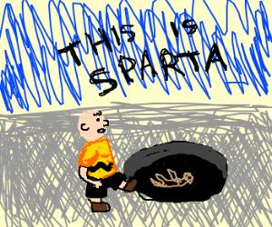 Charlie Brown is King Leonidas