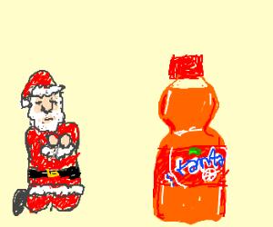 Cult Santa worships Fanta