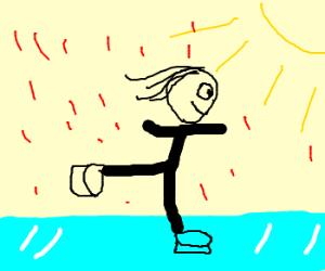 Red rain, sunshine, ice-skating. No more.