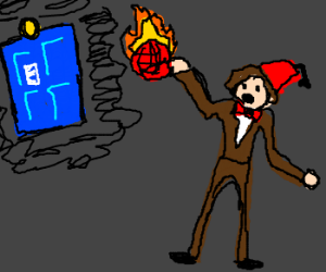 Doctor catching a flaming volleyball.