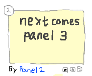 You are panel 2, next comes panel 3