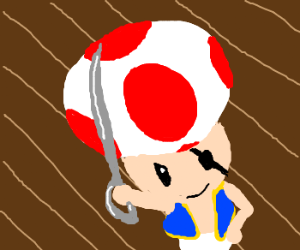 Toad becomes a pirate
