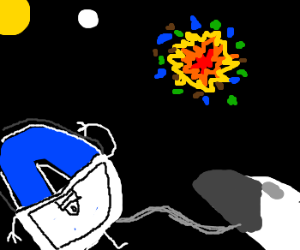 Drawception looks on as the earth is destroyed