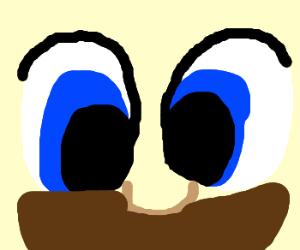 Mario face close up