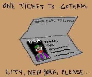 Joker's Passport Photo