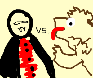 Vampire vs. werewolf