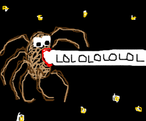 Spiders lolling in space
