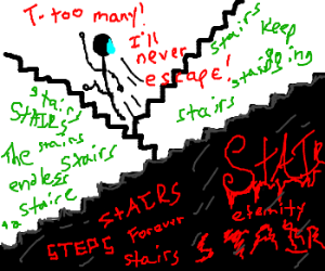 Infinite stairs of the parallel madness.