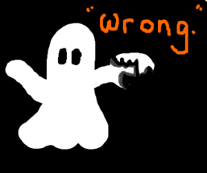 "Boo says, ""You are wrong""."