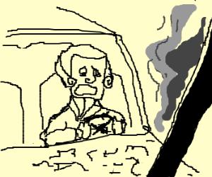 George Washington crashes car, gets grounded