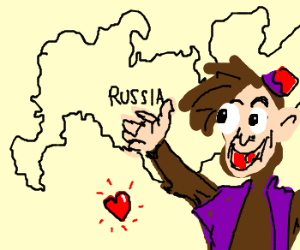 Abu the monkey loves Mother Russia