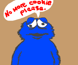 Cookie monster finally has enough