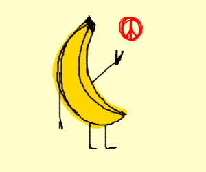 Banana protests for peace