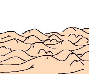 A nudist mass