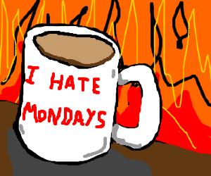 Devil's coffe cup