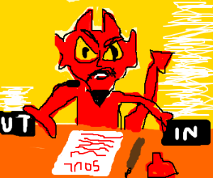 Satans office, Souls now have paperwork