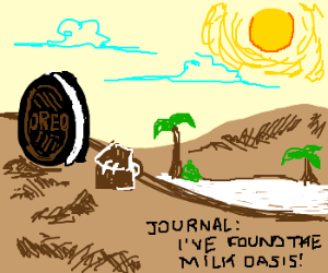 oreo on dessert island finaly finds milk oasis