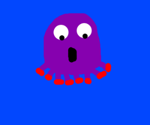 Octopus realizes he doesn't have arms.