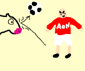 Manchester United versus a cow