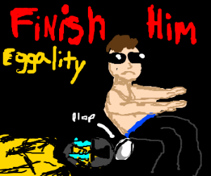 Johnny Cage lays an egg
