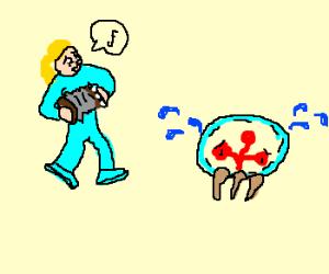 Samus' accordian skills make metroid cry
