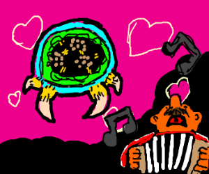 Metroid is moved by singing accordion player.