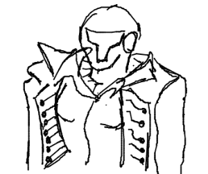 Samus dressed as Richter Belmont