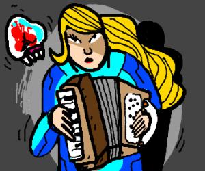 Zero Suit Samus plays Piano Accordian!