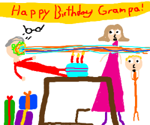 "Elderly man has a ""blast"" on his birthday."