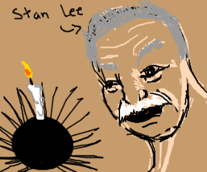Happy Birthday Stan Lee! Porcupine cake!